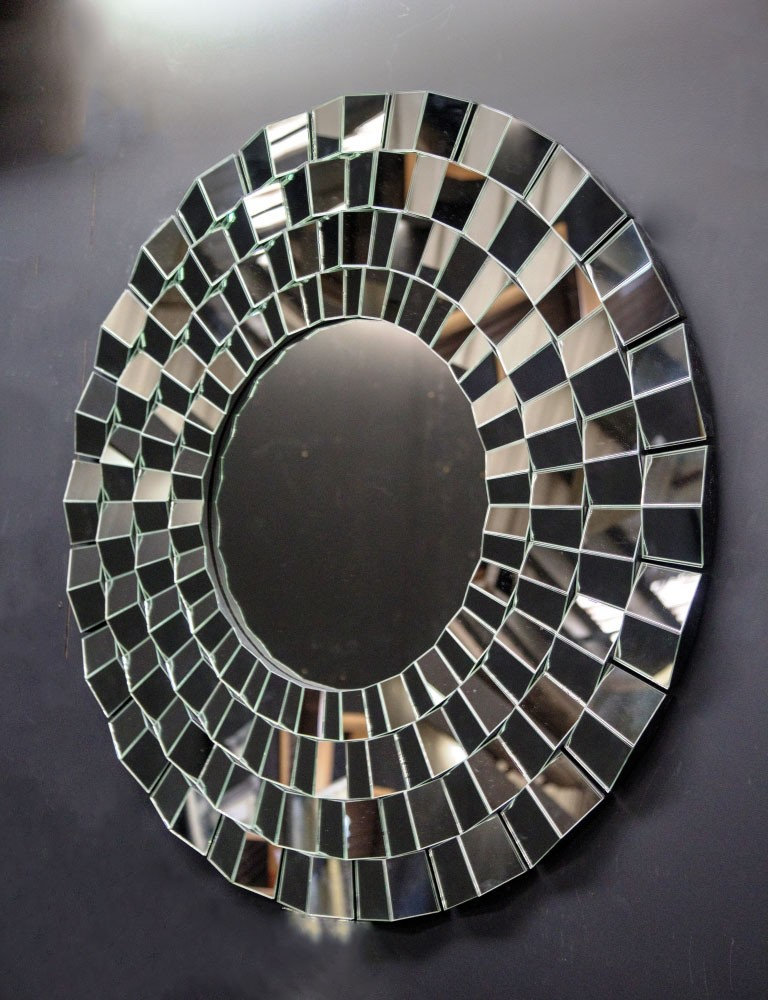 Large Circular Mosaic Mirror Mirror Magic Uk
